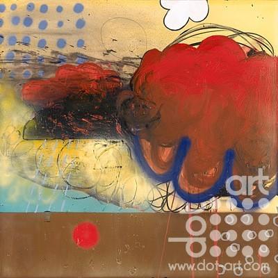 GATHERING 100x100cm mixed media on canvas £1800