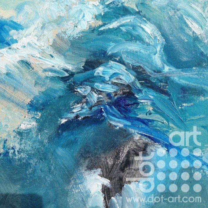 Flow 1 acrylic on cavas board 30×30 £110