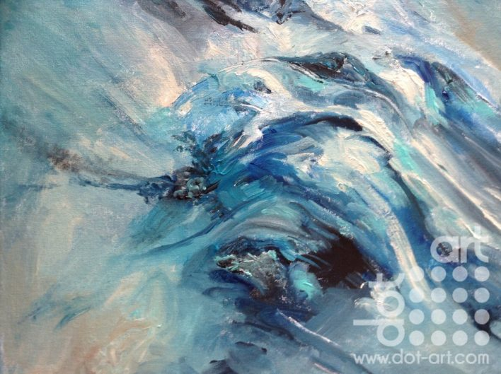 Flow to wave acrylic on cavas board 50×40 £140