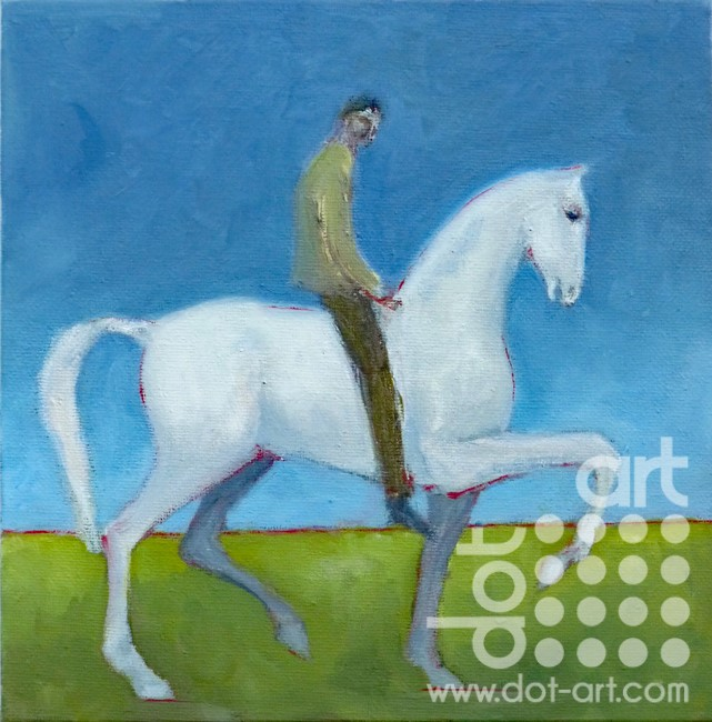 Rider on a Pale Horse is 20cm x 20cm £250
