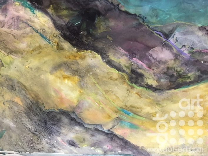 Snowdonia Lavender Light Mixed Media on rag paper