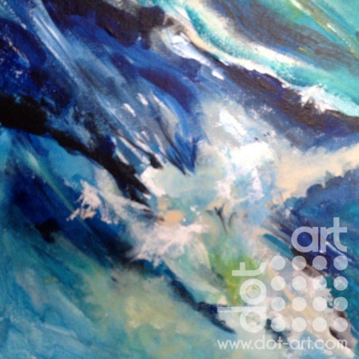 Wave 2 acrylic on cavas board 30×30 £110