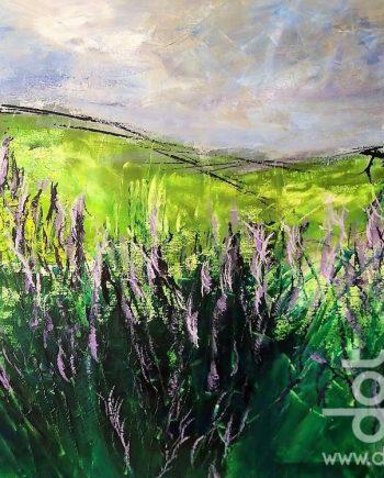 Lavender I. 60x80cm. Acrylic on canvas. £380.00.