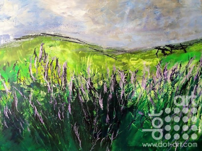 Lavender I. 60x80cm. Acrylic on canvas. £380.00.
