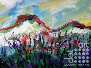 Scottish Lavender. 30 x 40cm. Acrylic on Canvas. £150.00.