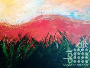 Welsh Mountains. 30 x 40 cm. Acrylic on canvas. £150.00.