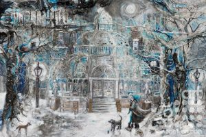 Starry Snowy Palm House by Susan Finch