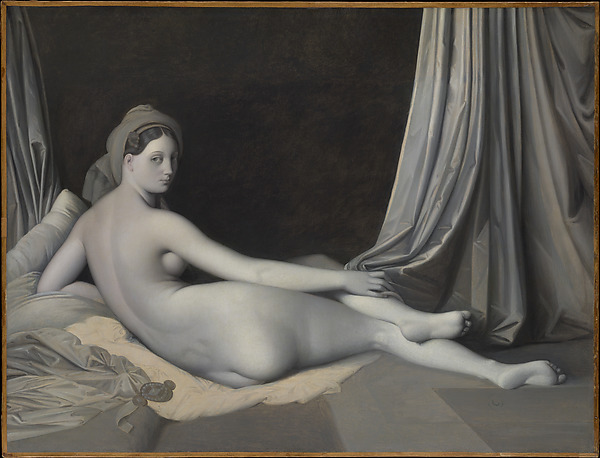 Odalisque en Grisaille by Jean Auguste Dominique Ingres