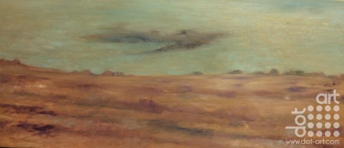 Ploughed Field – Whitegate oil on panel 80x 35 cms