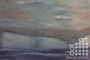 Rain at sea , Barmouth by Dorothy Benjamin