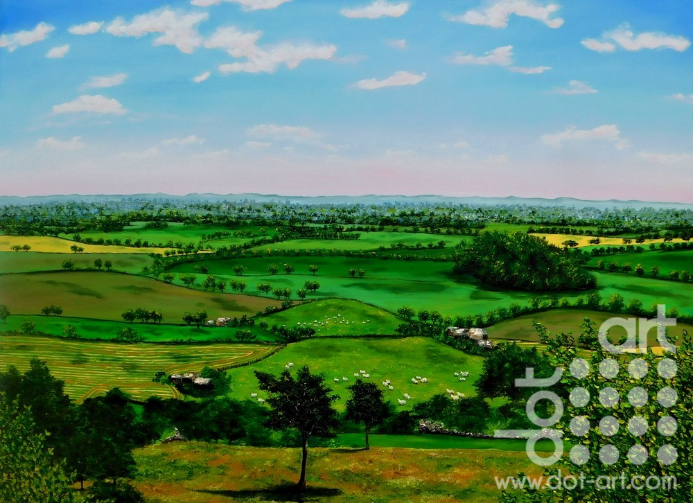 breezy day on the cheshire plains by Hazel Thomson