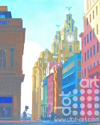 View of Water Street and the Liver Building by Martin Jones