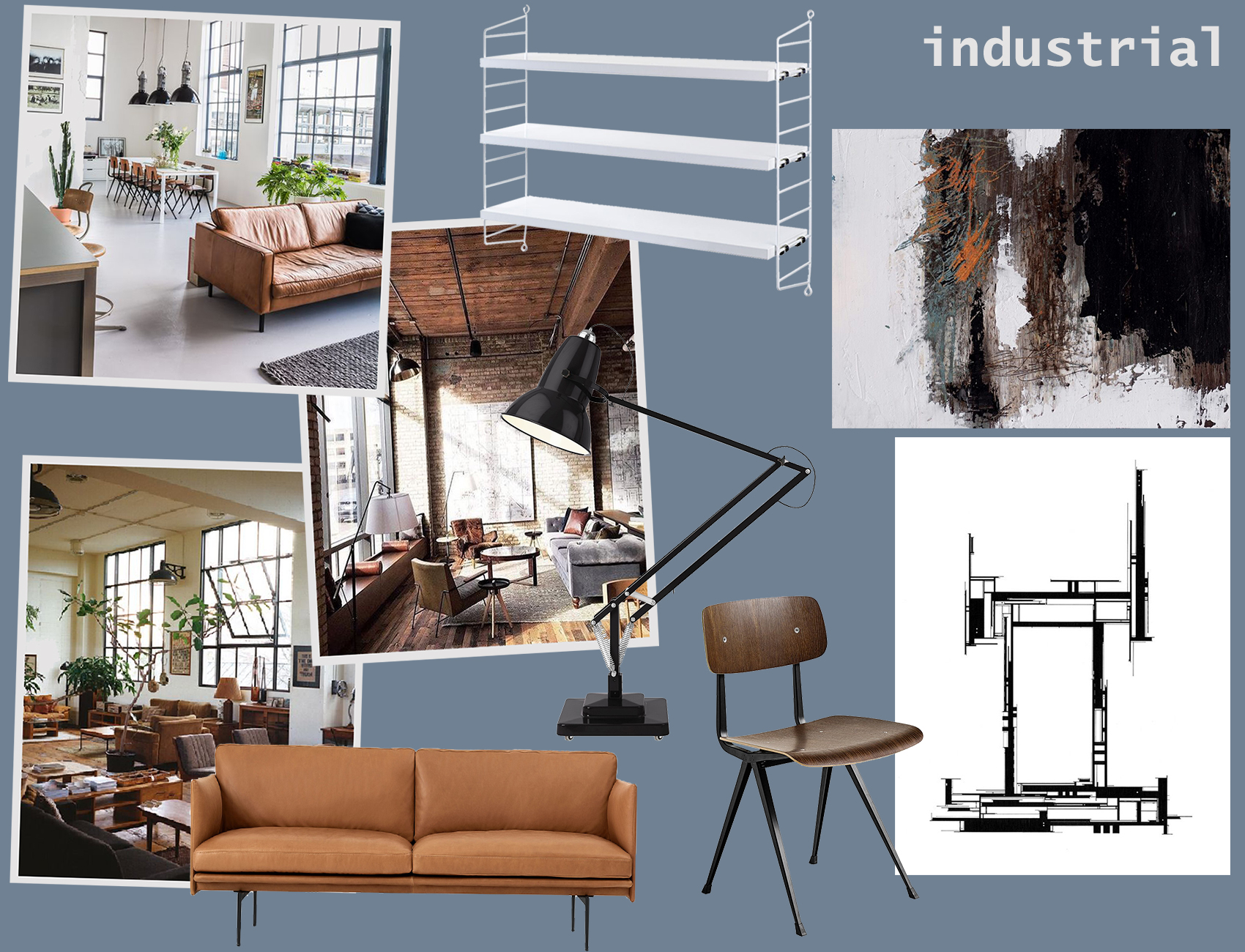industrial moodboard by utility design