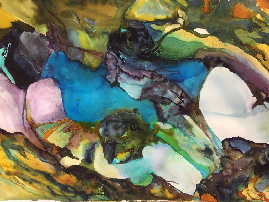 Watercolour Falls by Susan Williams