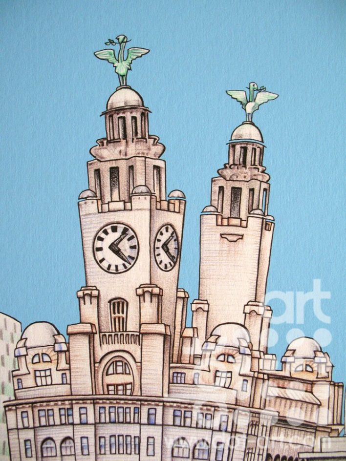 Liverpool Waterfront Characters by markmyink