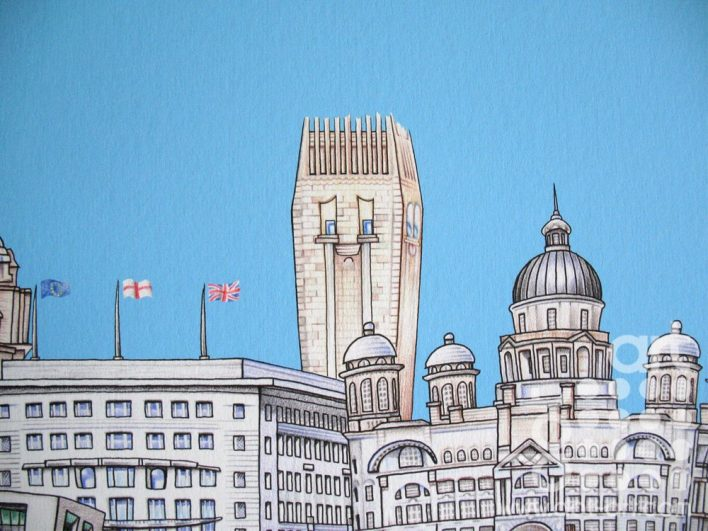 liverpool waterfront skyline art characters art mrc 013