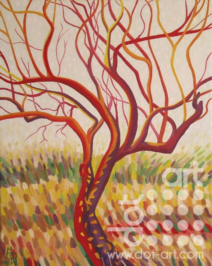 praise tree in red by madeleine pires