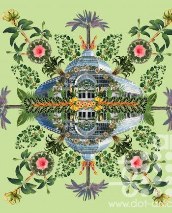 Palm House Liverpool Mandala by Olga Snell