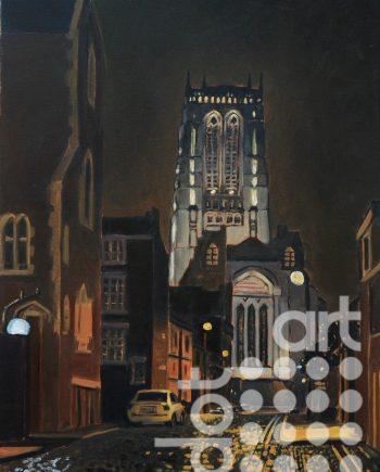 Anglican catherdral, Pilgrim Street by Huw Lewis-Jones