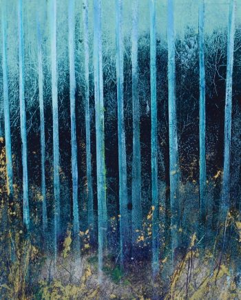 Blue Trees by hilary dron