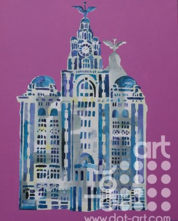 Liver Building on Pink by Linda Poggio