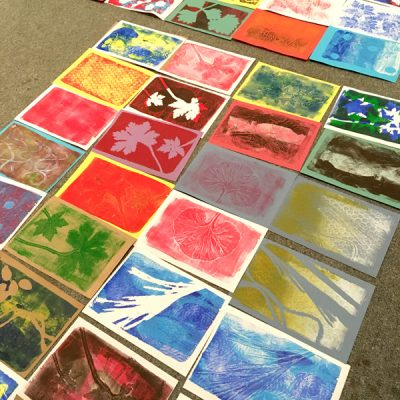 monoprinting with Bev Evans