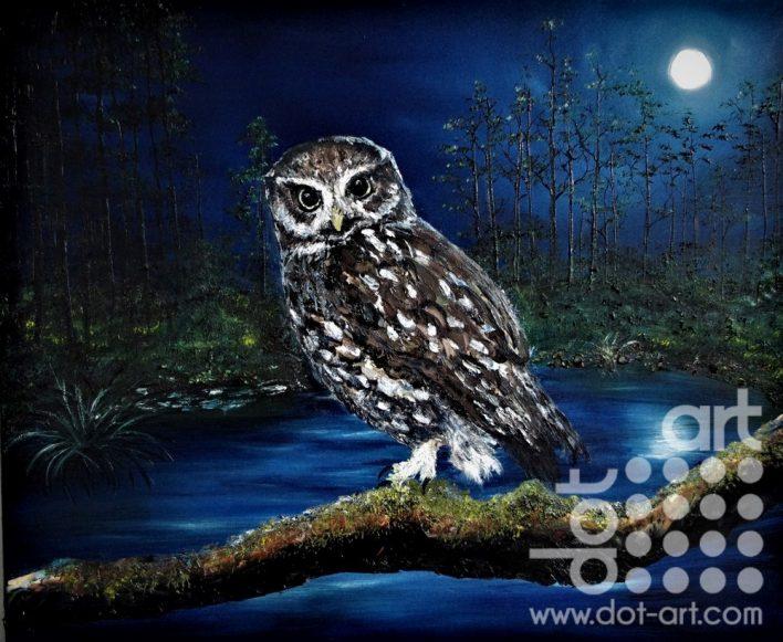 Moonlit Watch by Hazel Thomson