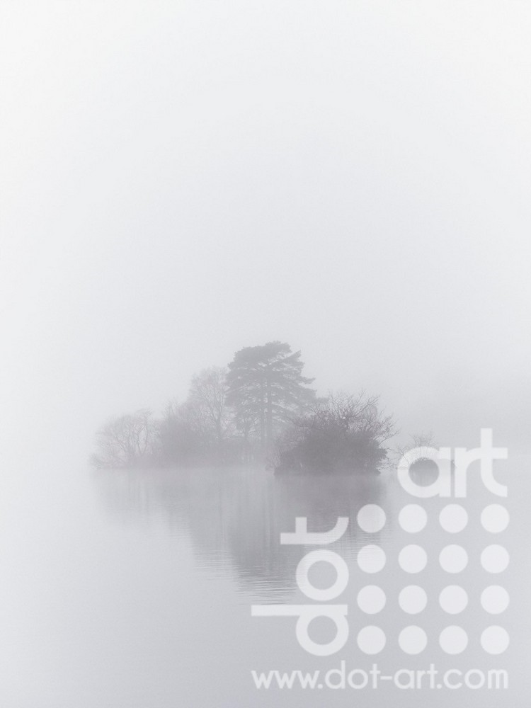 Misty Island Rydal Water by Chris Routledge