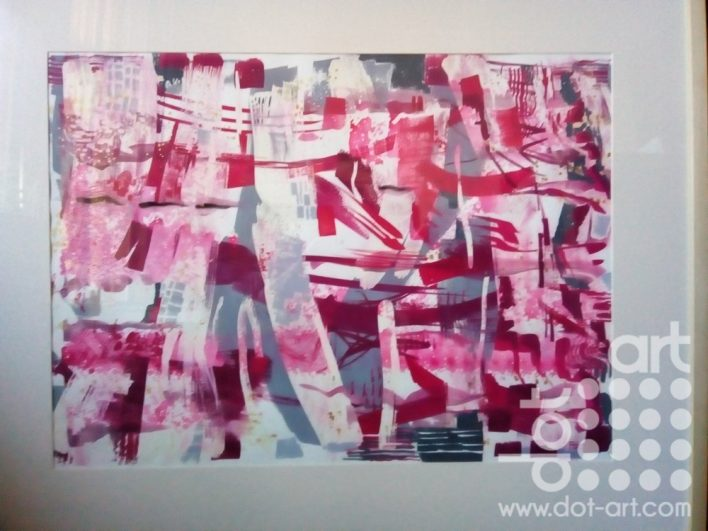Festoon in Pink by Linda Poggio