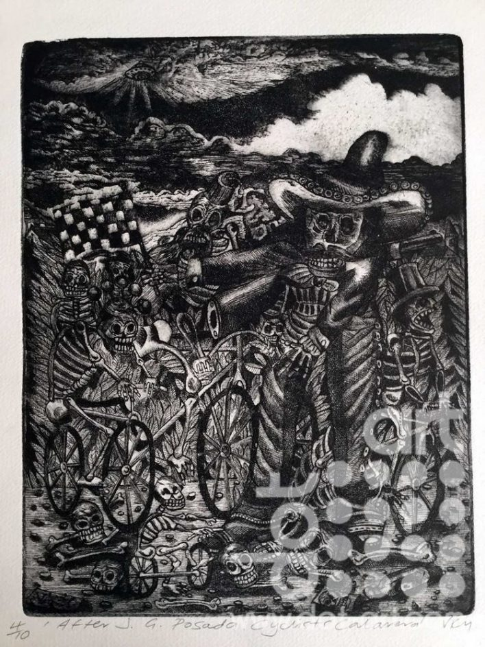 After J.G Posada Cyclists Calavera vincent kelly