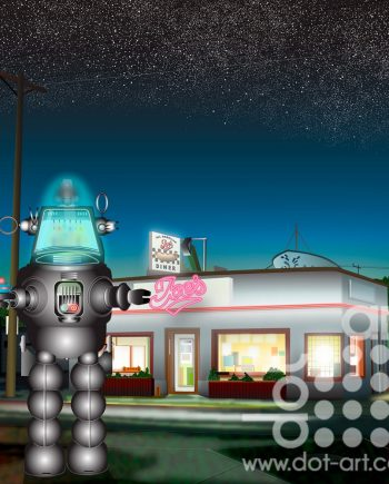 Diner-Neon-Night-Robbie by vincent kelly