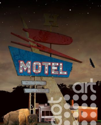 Motel-Night by Vincent Kelly
