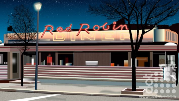 Red-Robin-Diner by Vincent Kelly