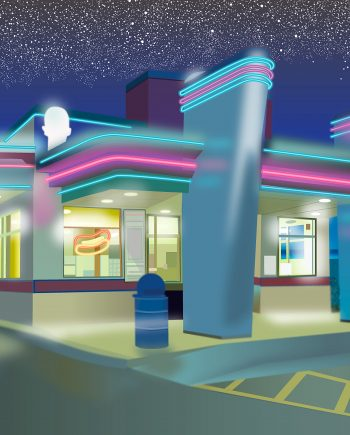 Roswell-Diner by vincent kelly