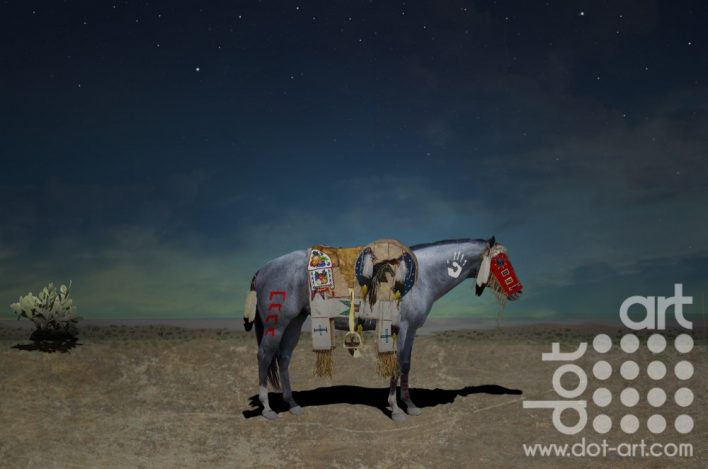 War Horse with Cactus and Mask by Vincent kelly