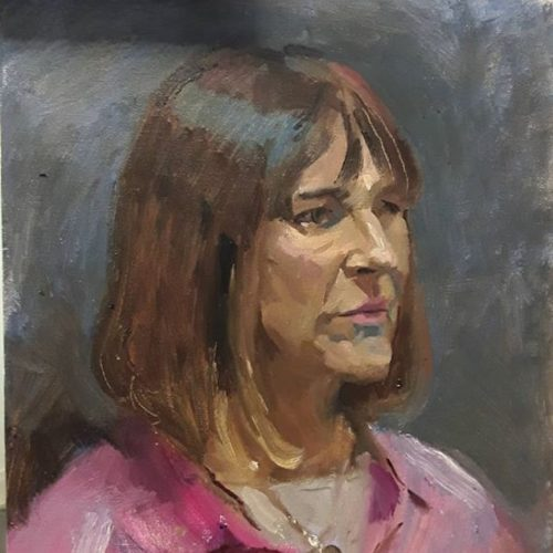 portrait painting with kathy dereli