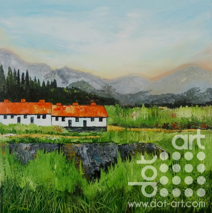 Spanish Cottages on the Hill by steve Bayley