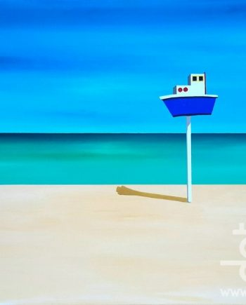 Deauville Beach - Boat on Pole by Steve Bayley