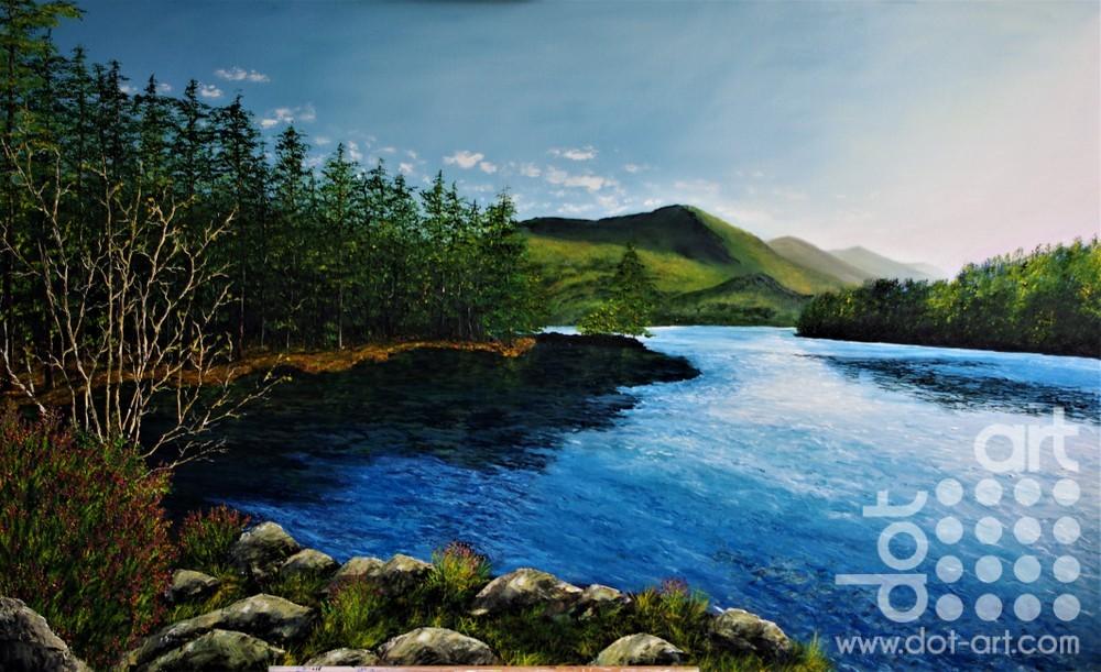 ,morning glow across the loch main By Hazel Thomson
