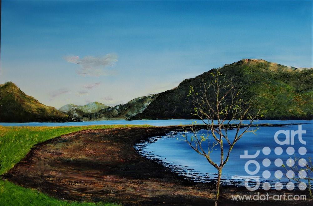 sappling Along Loch Goil by Hazel Thomson