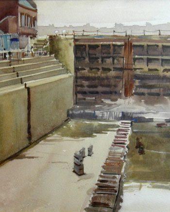 watercolour-dry-dock-Micahel-Kirby