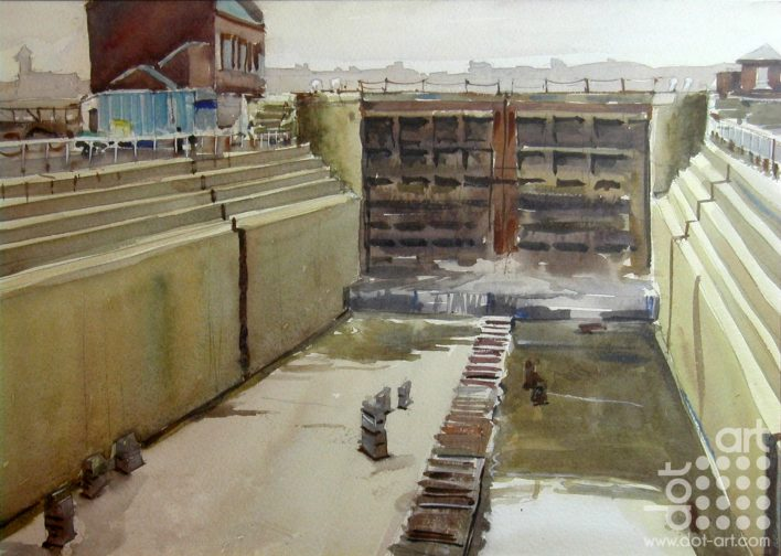 watercolour-dry-dock-Micahel-Kirby