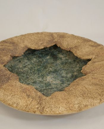 Crank sculptural stoneware clay, oxides and glaze-Beneath-the-surface-Janet-Holmes