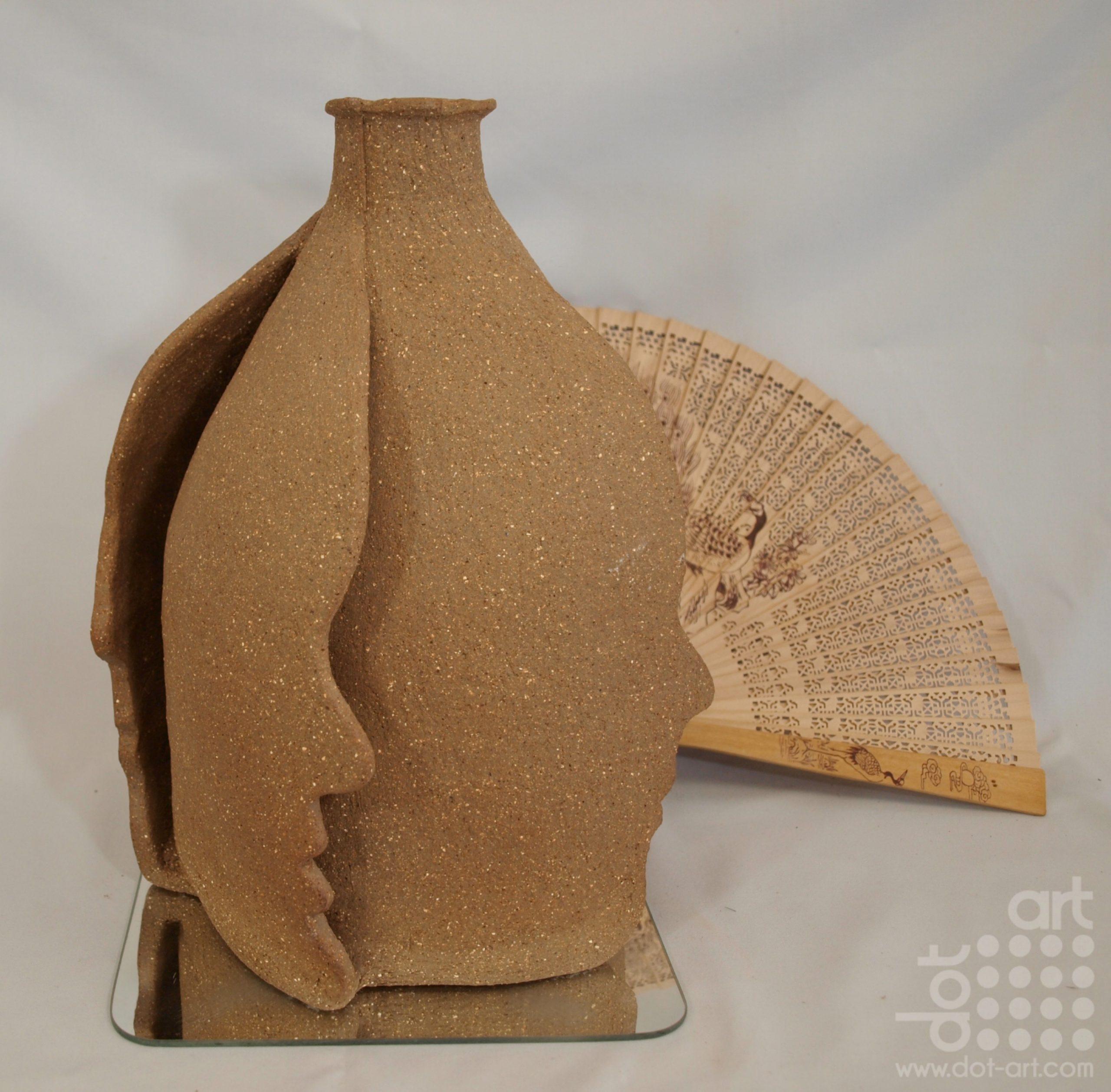 High fired sculptural terracotta clay