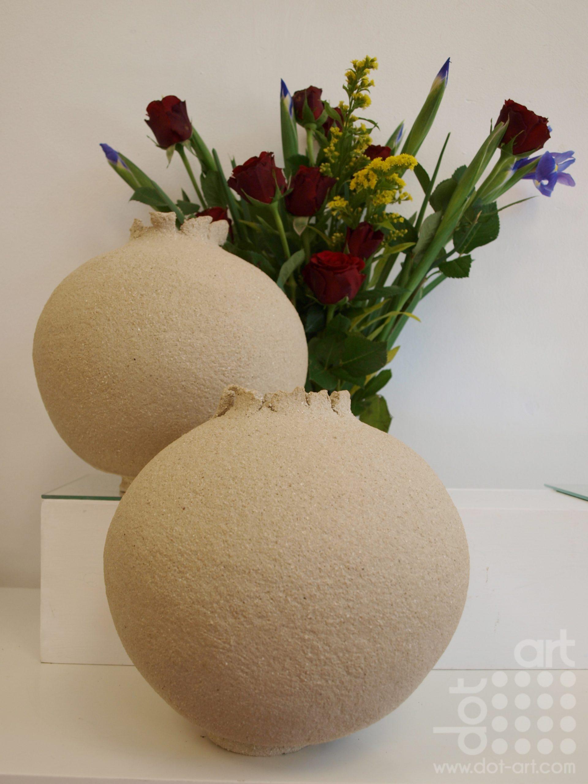 Crank sculptural stoneware clay