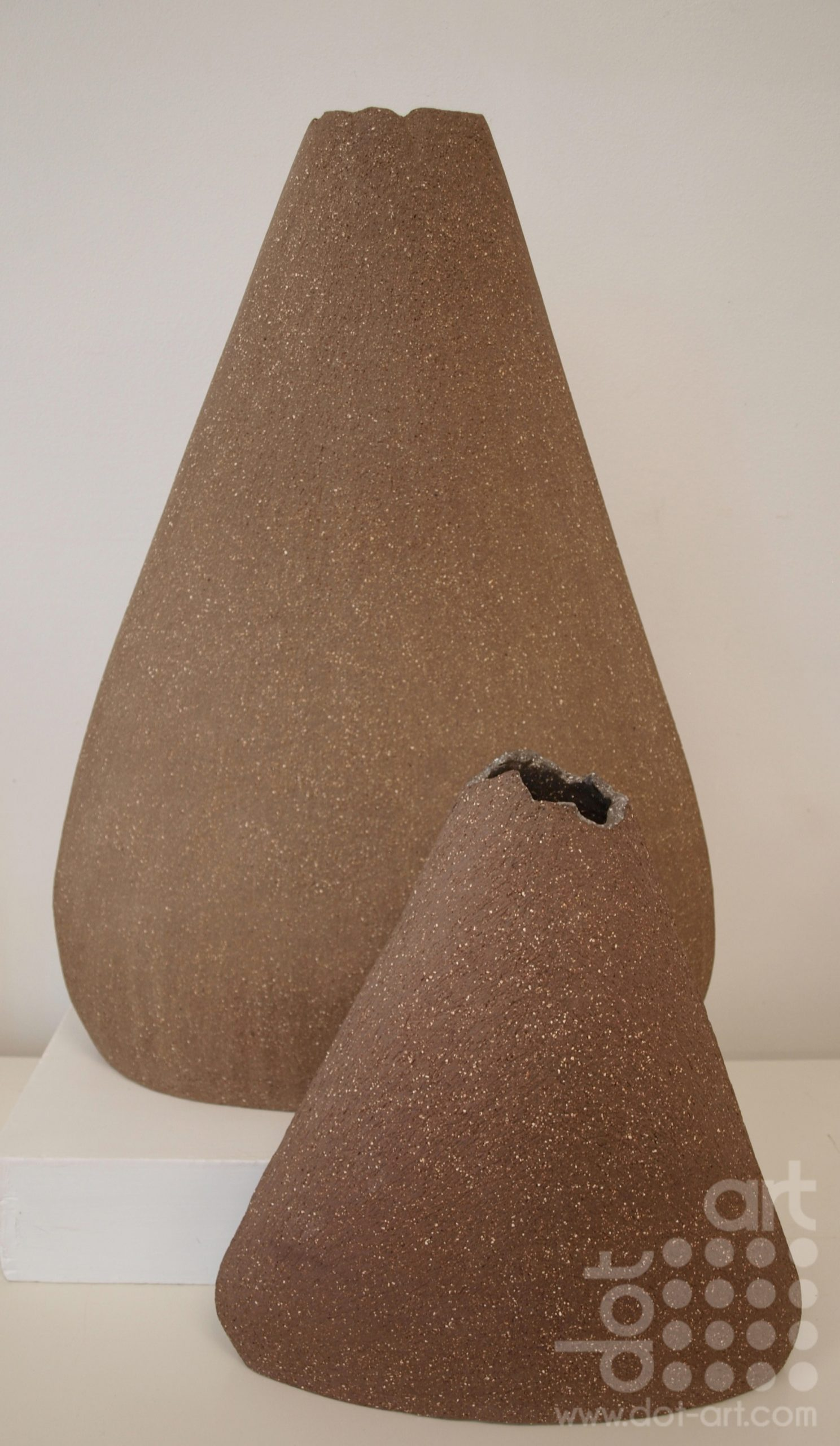 High fired sculptural terracotta clay