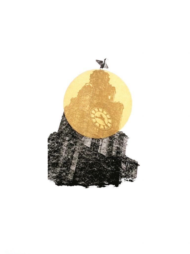 Liverpool One Gold Screen Print-David-Gilligan-WeThreeStore