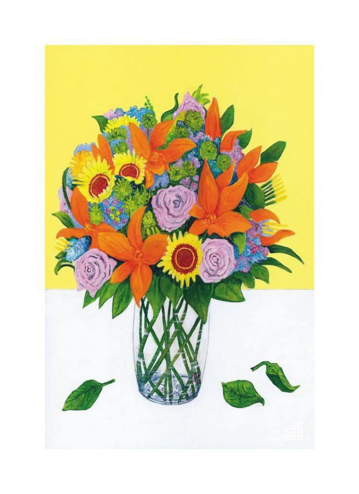 Still Life with Flowers-Mark-Nelson