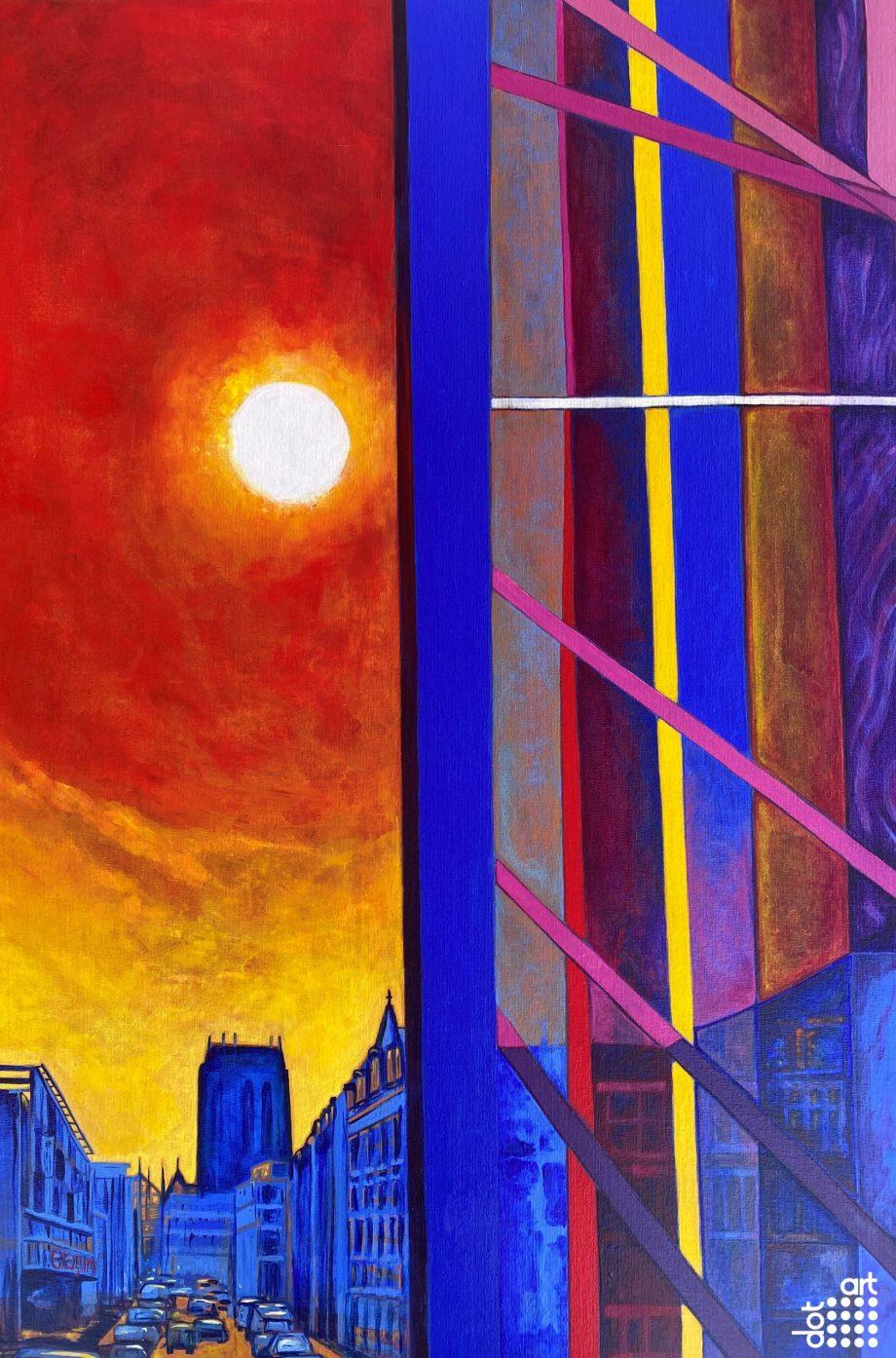 Red Sky on Hope Street -natalie-gilmore
