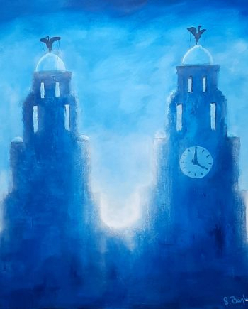 Royal Liver Buildings in Blue-Steve-Bayley
